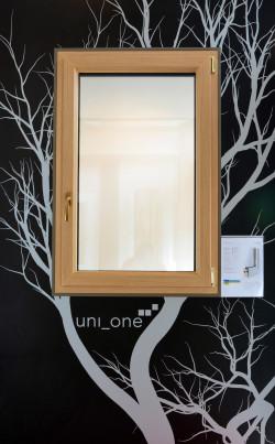 Porta in legno alluminio